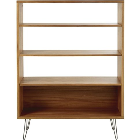 Bookcase With Grey Metal Legs Luciano