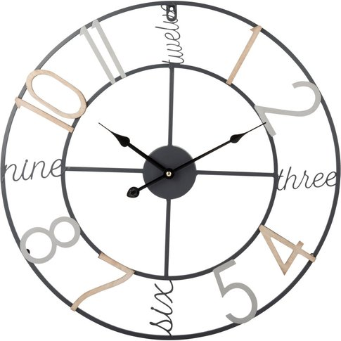 Bright Metal Clock D50