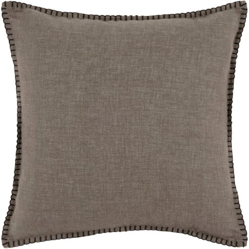 Brown And Black Cotton Cushion Cover 40x40