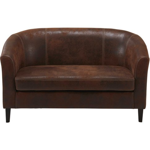 Brown microsuede 2-seater bench Baltimore