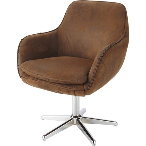 Brown Microsuede Office Chair Andrews