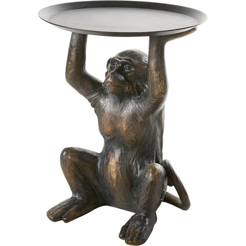 Brown Monkey Side Table