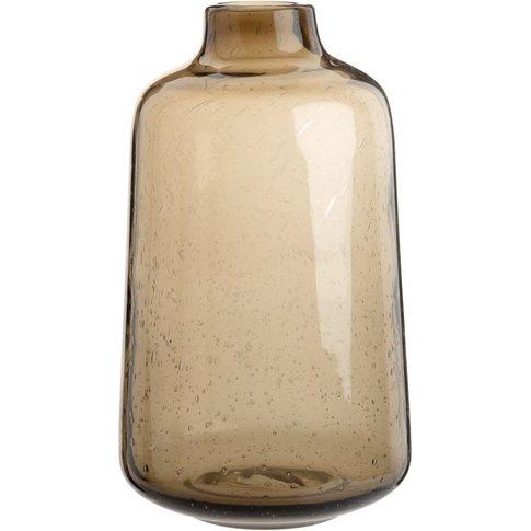 Brown Tinted Glass Vase H25