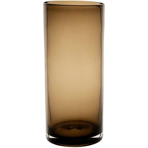 Brown Tinted Glass Vase H28