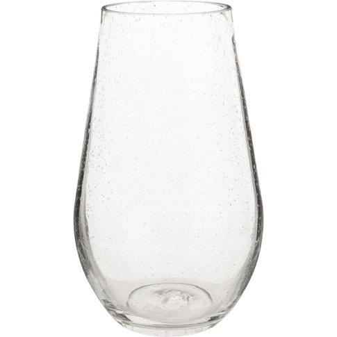 Bubble Glass Pear Vase H25