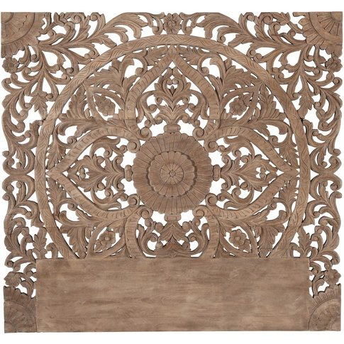 Carved Solid Mango Wood 160 Headboard Himalaya