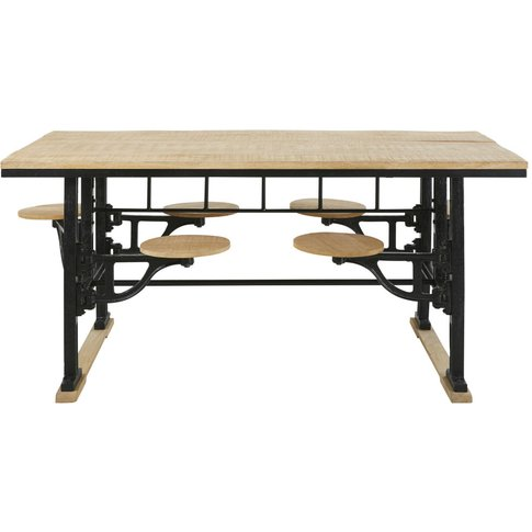 Cast Iron And Mango Wood 8-Seater Dining Table With ...