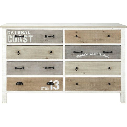 Chest Of Drawers In White Noirmoutier