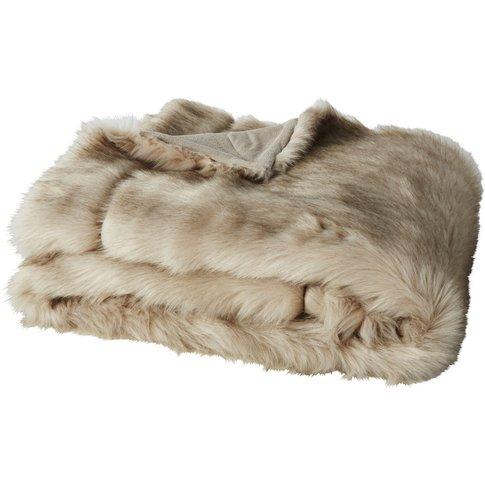 Chestnut Faux Fur Throw 150x180