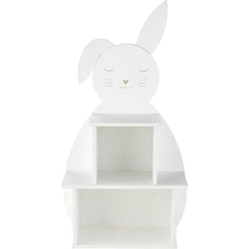 Children's White Rabbit Bookcase Bulle