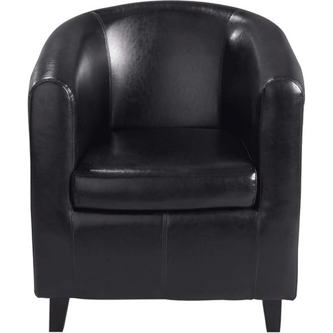 Club Armchair In Black Nantucket