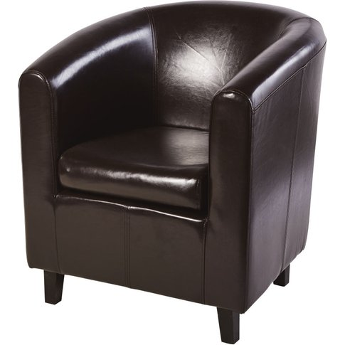 Club Armchair In Brown Nantucket