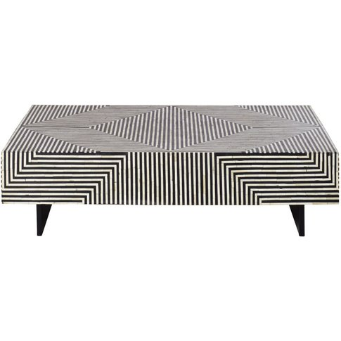Coffee Table With Black And White Graphic Print Kalei