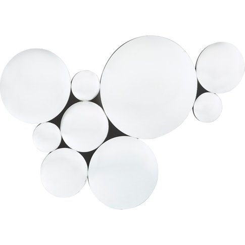 Composition Of 9 Silver Convex Mirrors 123 X 87 Cm