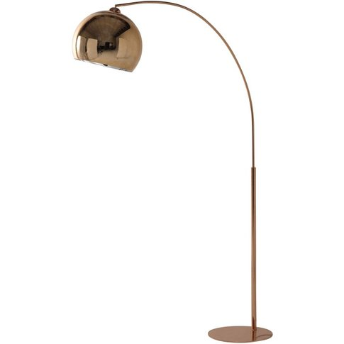 Copper Finish Metal And Plexiglas® Floor Lamp H195