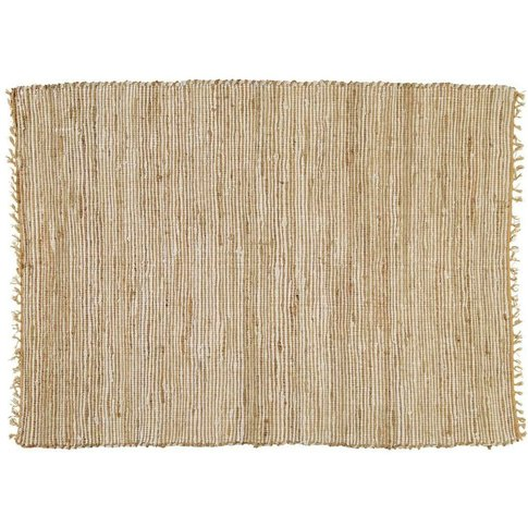 Cotton And Jute Woven Rug 140 X 200