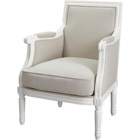 Cotton Armchair In Putty Casanova
