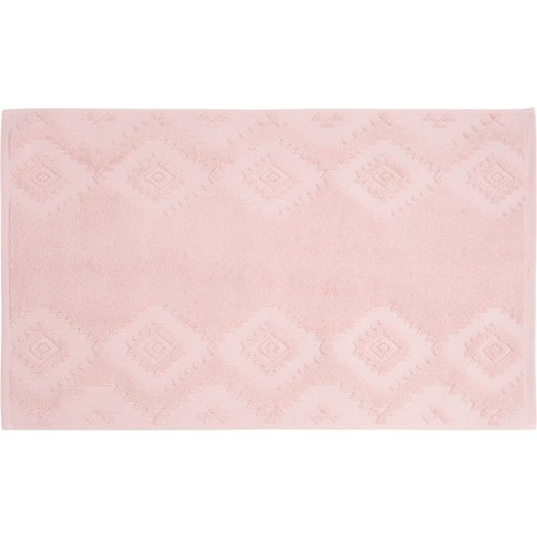 Cotton Bath Mat With Graphic Motifs 50x80