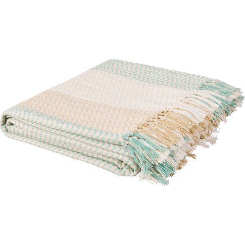 Cotton Blanket With Stripe Motifs 180x240