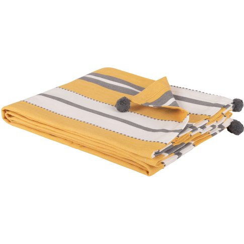 Cotton Blanket With Stripes 180x240