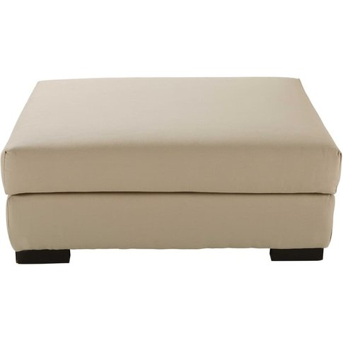 Cotton modular pouffe in putty Terence