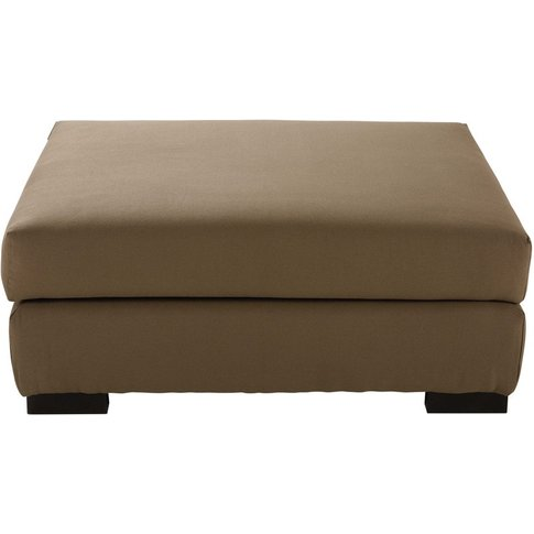 Cotton modular pouffe in taupe Terence