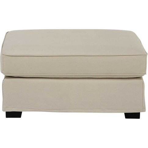 Cotton Modular Sofa Pouffe In Putty Milano