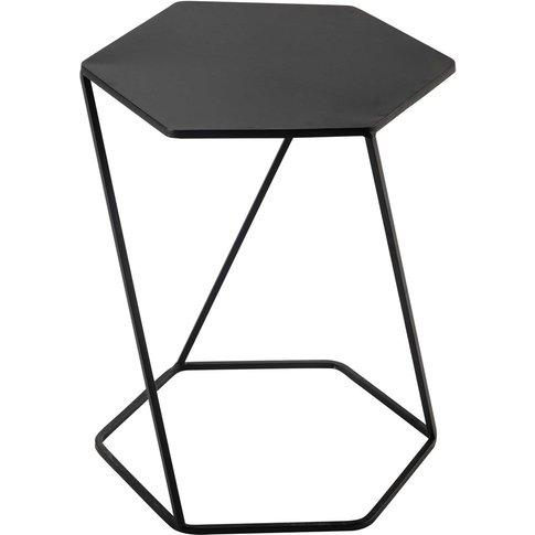 Curtis Metal Side Table In Black W 45cm