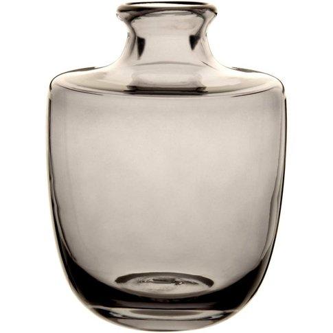 Dark Grey Tinted Glass Vase H24