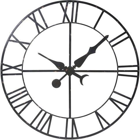 Decorative Black Metal False Clock D130