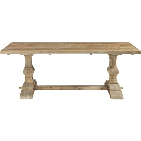 Distressed Wood Dining Table W 220cm Lourmarin