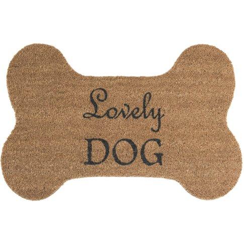 Dog Bone Coir Doormat with Black Print 52x78