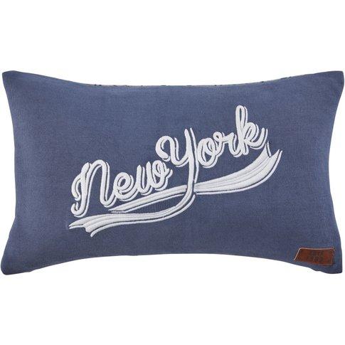 Dual-Tone Printed Cotton Cushion 30x50