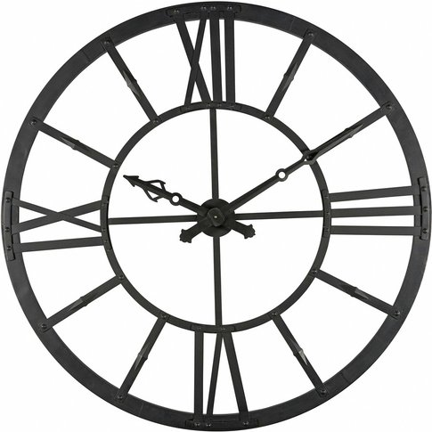 Duke Black Metal Light-Up Clock D 121 Cm