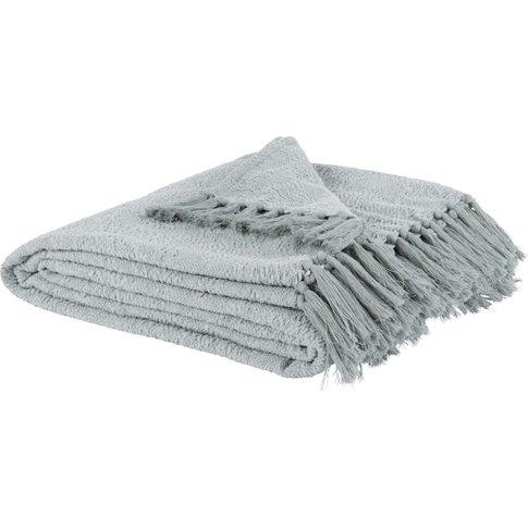 Ecru And Grey Cotton Blanket 150x200