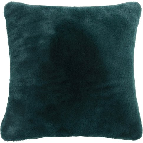 Emerald Faux Fur Cushion Cover 40 X 40 Cm