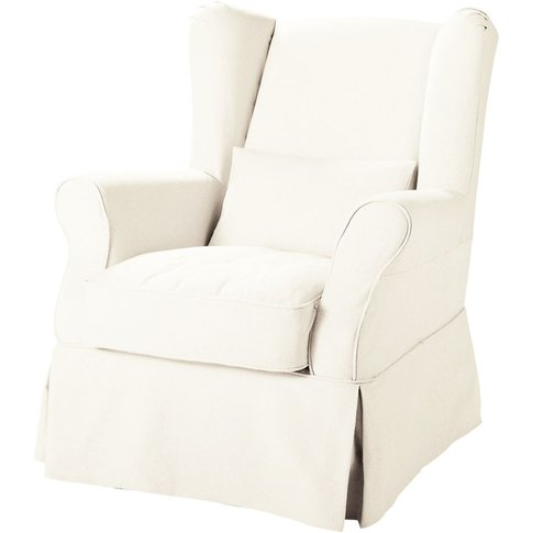 Fabric Armchair To Cover In White Cottage