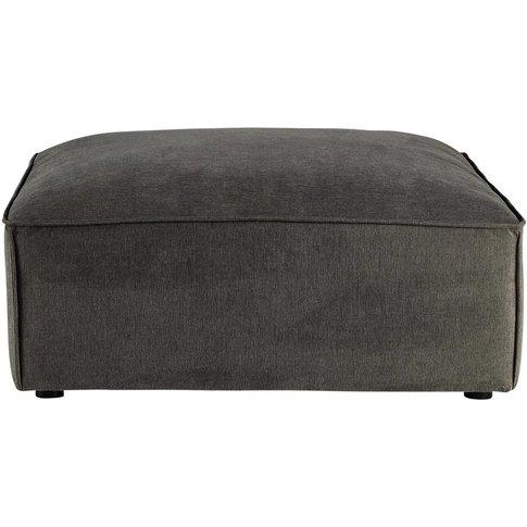 Fabric modular pouffe in grey taupe Malo