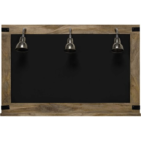 Factory Blackboard + 3 Wall Lights 85 X 130cm