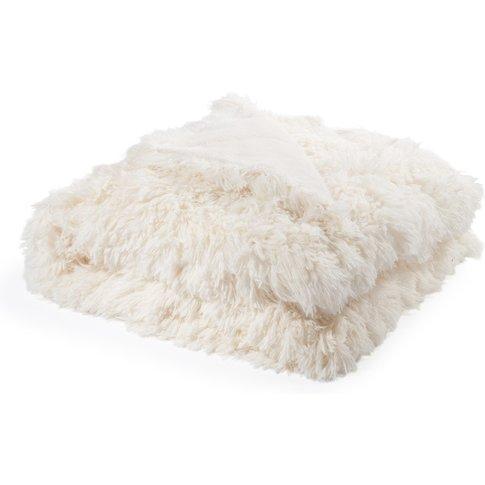 Faux Fur Blanket In White 130x170