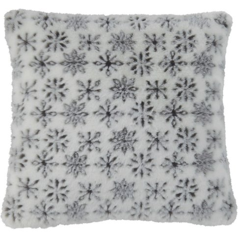 Faux Fur Cushion with Flake Pattern 45x45