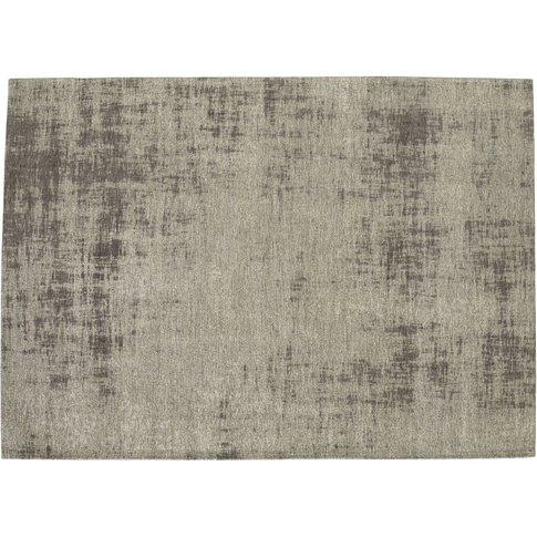 Feel Cotton Rug In Grey 155 X 230cm