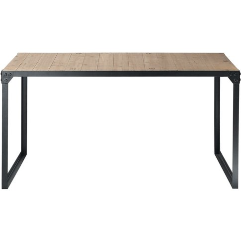 Fir and Metal 6/8-Seater Industrial Dining Table L 1...