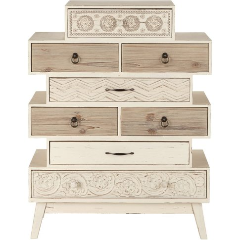 Fir Destructured 8-Drawer Tall Chest Of Drawers Rumba