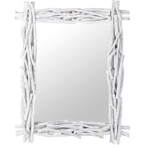 Fjord Driftwood Mirror In White H 115cm