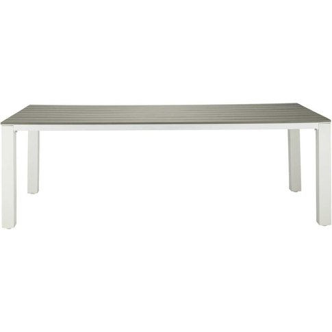 Garden table 8/10 persons in aluminium and composite...