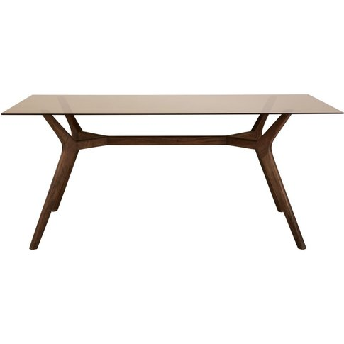 Glass and Acacia 8-Seater Dining Table W180 Sterling