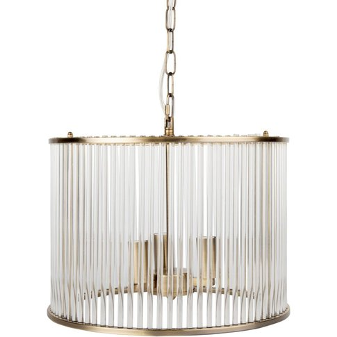 Glass And Copper Metal Ceiling Light