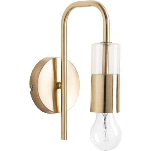 Glass And Gold Metal Wall Light