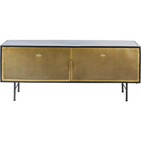 Gold and Black Metal 2-Door TV Cabinet Jagger